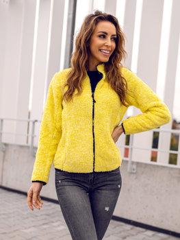 Bolf Damen Fleece Sweatshirt ohne Kapuze Gelb  HH009