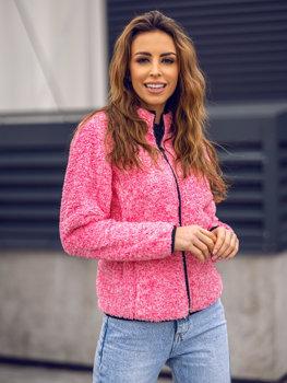 Bolf Damen Fleece Sweatshirt ohne Kapuze Rosa  HH009