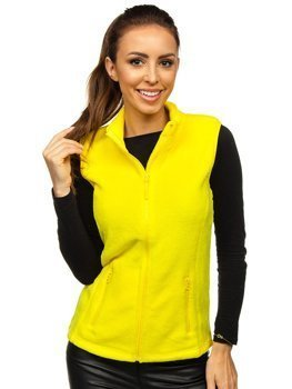 Bolf Damen Fleece Weste Gelb  HH003