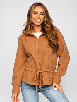 Bolf Damen Jacke mit Kapuze Braun  9320