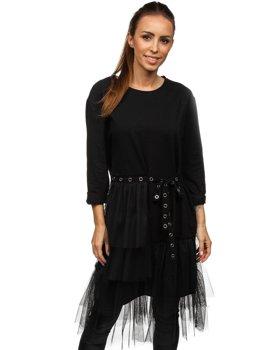 Bolf Damen Kleid mit Print Schwarz  30655