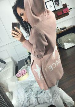 Bolf Damen Pullover Cardigan Rosa  05