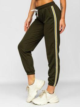 Bolf Damen Sporthose Khaki  YW01020B