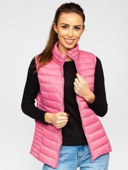 Bolf Damen Stepp Weste Puder Pink 23038