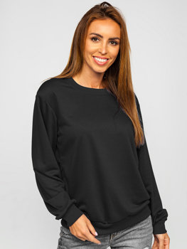 Bolf Damen Sweatshirt Schwarz  WB11002
