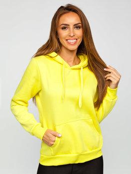 Bolf Damen Sweatshirt mit Kängurutasche Hellgelb W02