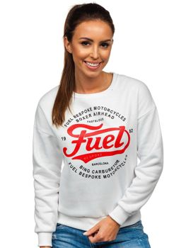 Bolf Damen Sweatshirt mit Motiv Weiß  KSW1013
