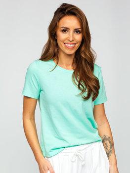 Bolf Damen T-Shirt ohne Motiv Mintgrün SD211