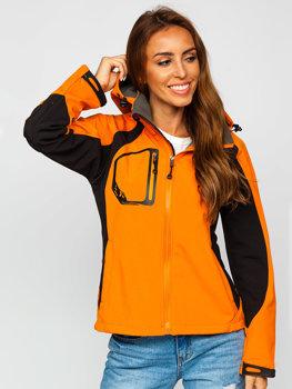 Bolf Damen Übergangsjacke Sofsthelljacke Orange  9055