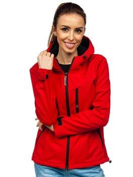 Bolf Damen Übergangsjacke Softshell Jacke Rot KSW6004