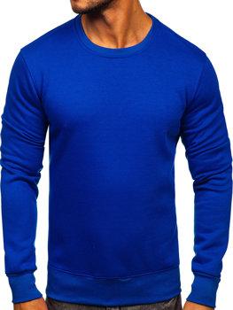 Bolf Heren Sweatshirt ohne Kapuze Kobaltblau  2001