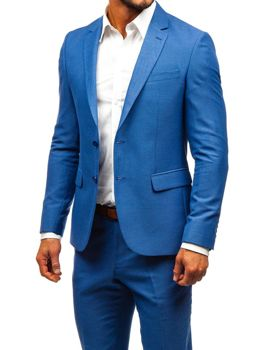 Bolf Herren Anzug Blau  19200-1