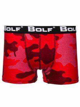 Bolf Herren Boxershorts Camo-Rot  0953-2