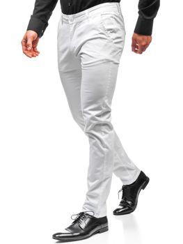 Bolf Herren Chino Hose Weiß  2901