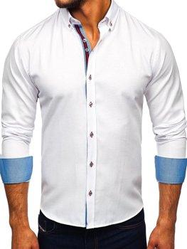 Bolf Herren Hemd Elegant Langarm Weiß  5801-A