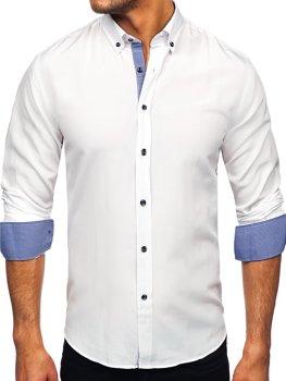 Bolf Herren Hemd Langarm Weiß  20719
