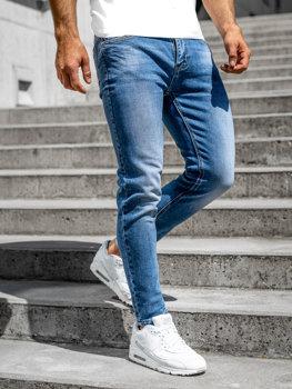 Bolf Herren Jeans Hose skinny fit Dunkelblau  KA6136-S