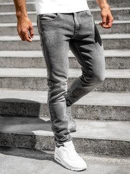 Bolf Herren Jeans Hose skinny fit Schwarz  KX597