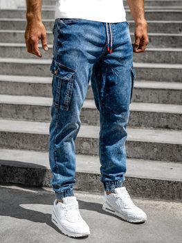 Bolf Herren Jeanshose Jogger Pants Dunkelblau  R51007S0