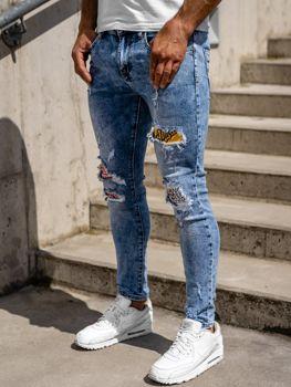 Bolf Herren Jeanshose skinny fit Dunkelblau  KX571