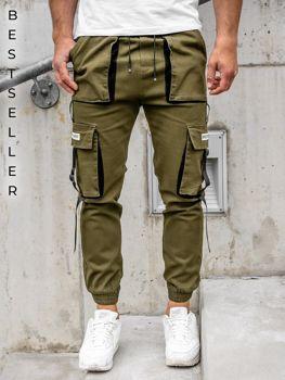 Bolf Herren Jogger Pants Cargo Hose Khaki  KA1911