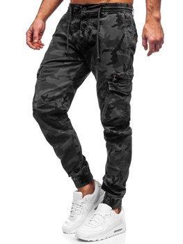Bolf Herren Jogger Pants Cargohose Grau CT6026S0