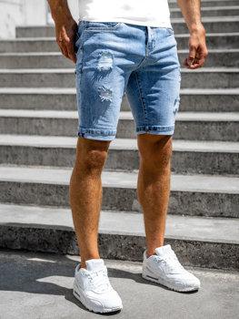 Bolf Herren Kurze Hose Jeans Shorts Blau  KG3851P