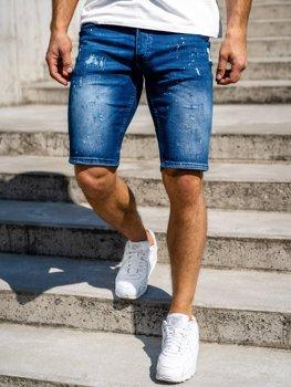 Bolf Herren Kurze Hose Jeansshorts Dunkelblau  R3000