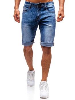 Bolf Herren Kurze Jeanshose Blau  7807