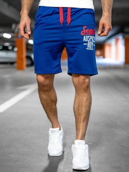 Bolf Herren Kurze Sporthose Blau EX07