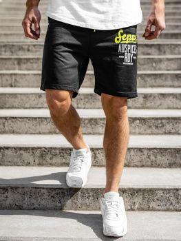 Bolf Herren Kurze Sporthose Schwarz  EX07