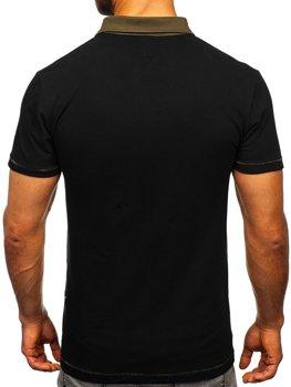Bolf Herren Poloshirt Schwarz  2058