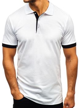 Bolf Herren Poloshirt Weiß  171222
