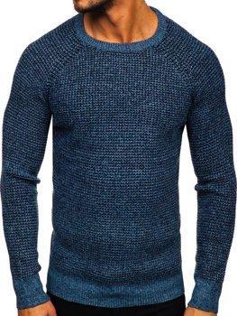 Bolf Herren Pullover Blau H1932