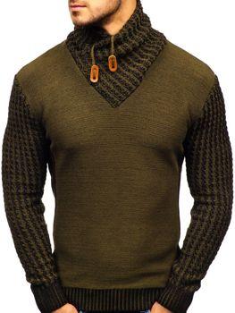 Bolf Herren Pullover Gemustert Grün  2010