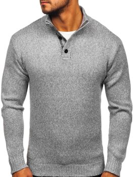 Bolf Herren Pullover Grau  P086