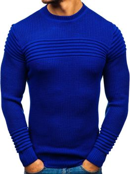 Bolf Herren Pullover Kobaltblau  6004