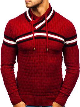 Bolf Herren Pullover Rot  6006