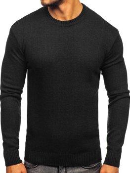 Bolf Herren Pullover Schwarz  0001