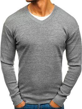 Bolf Herren Pullover V-Neck Grau  H1816