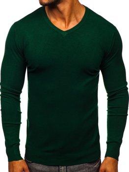 Bolf Herren Pullover mit V-Ausschnitt Grün  YY03