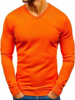 Bolf Herren Pullover mit V-Ausschnitt Orange  2200