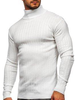 Bolf Herren Rollkragenpullover Weiß  520