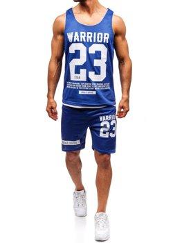 Bolf Herren Set T-Shirt + Kurze Hose  Blau 100778