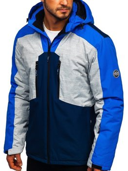 Bolf Herren Skijacke Blau 1340