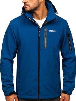 Bolf Herren Softshell Jacke Blau  BK067