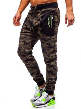 Bolf Herren Sporthose Camouflage Grün  TC876