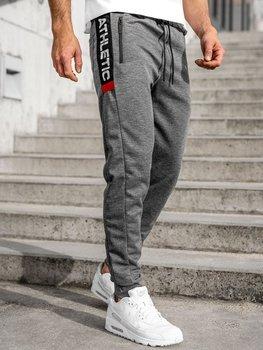 Bolf Herren Sporthose Grau  JX8122