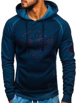 Bolf Herren Sweatshirt mit Reißverschluss Blau  GK42
