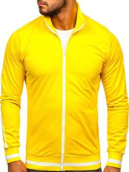 Bolf Herren Sweatshirt mit Reißverschluss retro style Gelb  2126